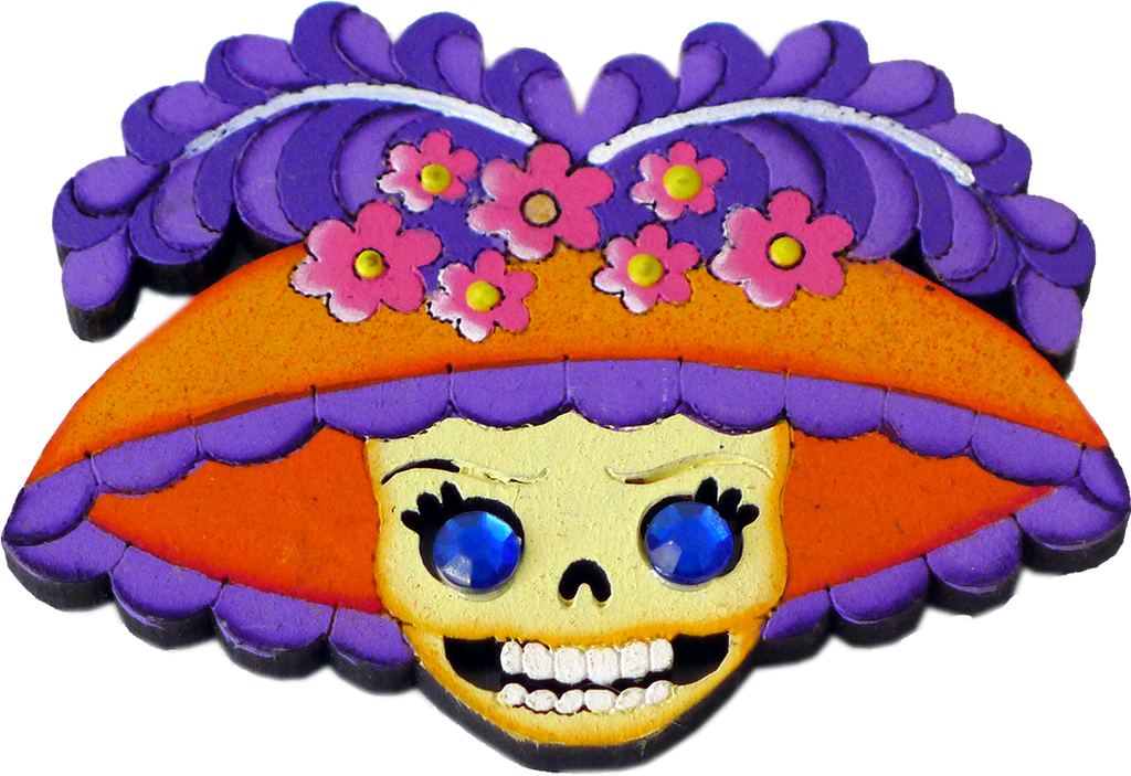 Catrina Wooden Magnet