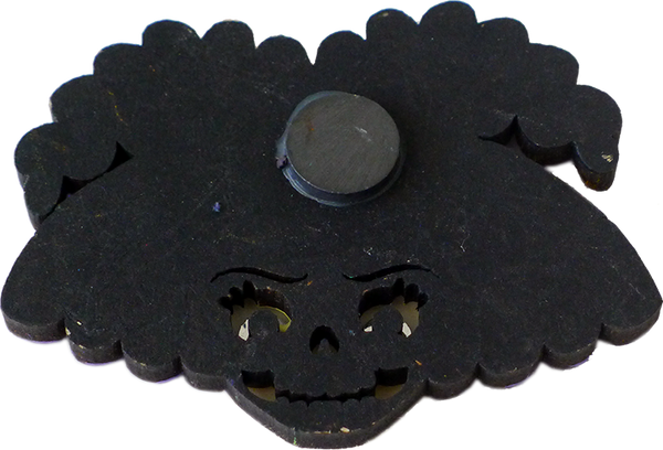 Catrina Wooden Magnet, back view
