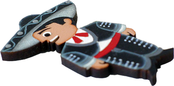 Charro Wooden Magnet, side view