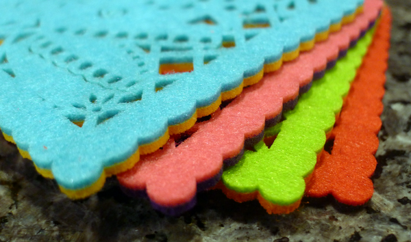 Papel PIcado Felt Coaster Set