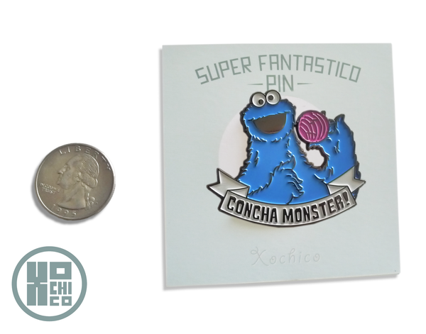 Concha Monster Enamel Pin