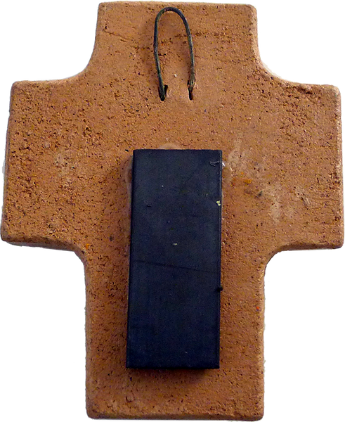 Virgencita Cruz Magnet, back view