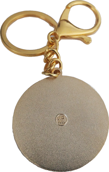 Enamel Concha Key Chain, back