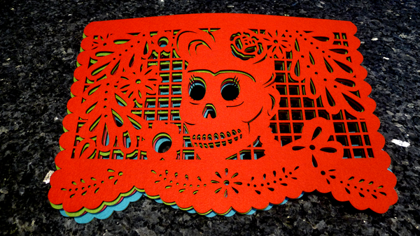"Double-sided Felt ""Papel Picado"" Placemat Sets (Muertos Patterns)"
