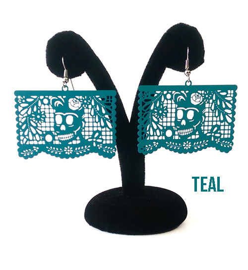 "Papel Picado Earrings, ""Florecita"""