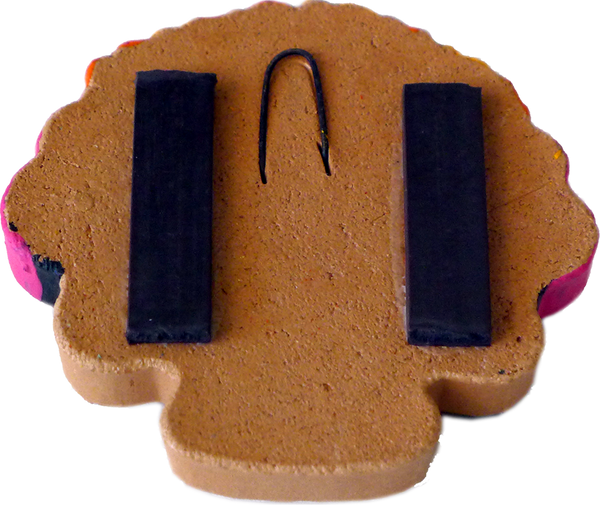Frida Cookie magnet, back view