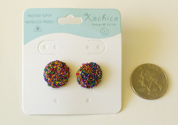 Pan Dulce Stud Earrings, Gragea (Sprinkle Cookie)
