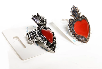 Sacred Heart rings special, side view