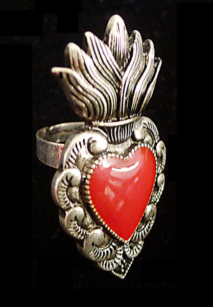 Mexican Sacred Heart Ring