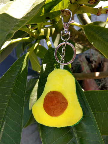 Avocado Plush Key Chain