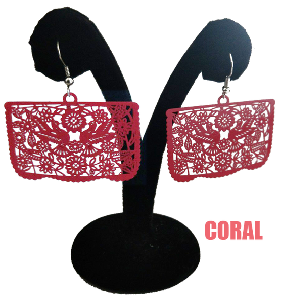 Papel Picado Earrings, Palomas