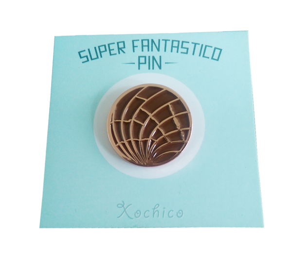 Chocolate Concha Lapel Pin
