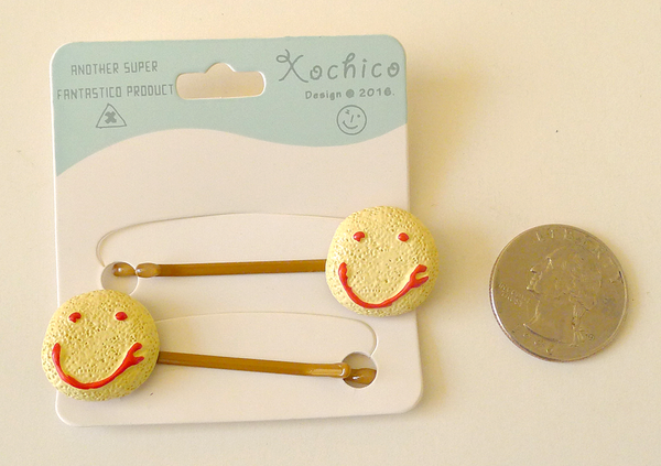 Pan Dulce Bobby Pins, Smiley Cookie