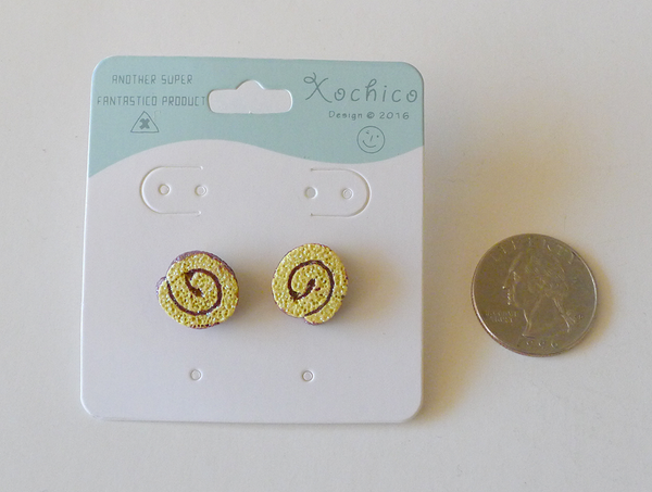 Pan Dulce Niño Envuelto Stud Earrings