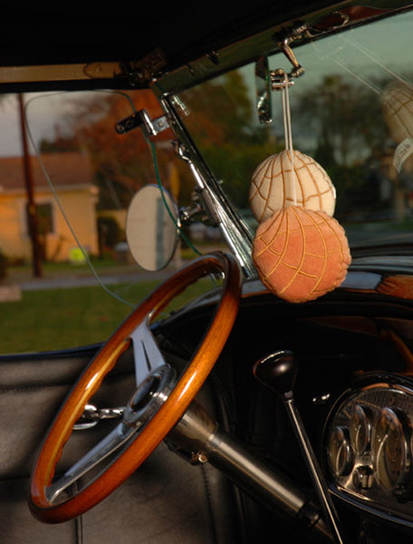 "Pan Dulce Concha ""Fuzzies"" Car Mirror Hangers"