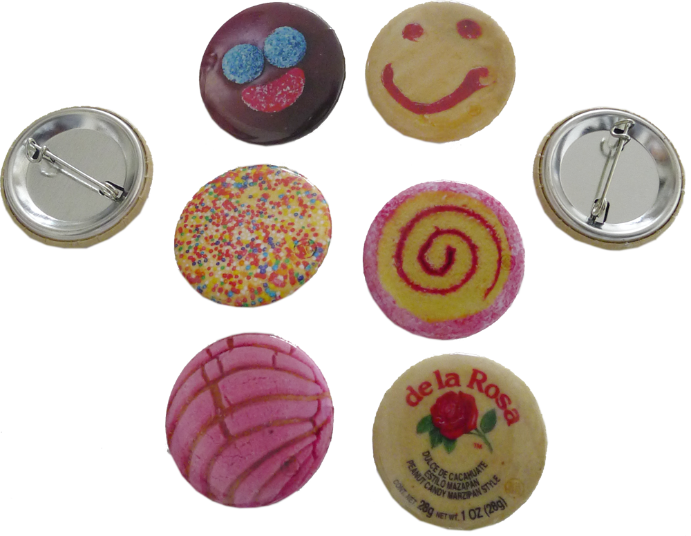 Pin Button Set, 6-Pack (Free U.S. Shipping)