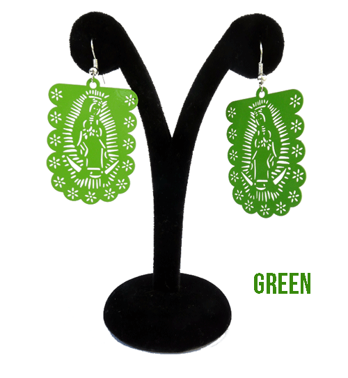 "Papel Picado ""Virgen"" earrings"