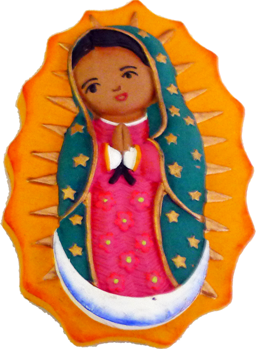Virgencita clay magnet