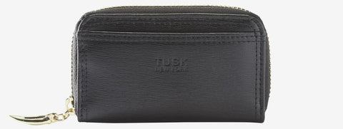 Tusk Madison Coin and Card Case with Signature Zipper Pull