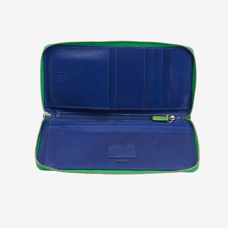 tusk-166-womens-zip-travel-portfolio-grass-and-indigo-open