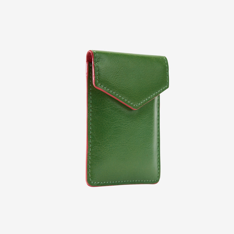 tusk-2002-siam-leather-mini-snap-card-case-moss-and-geranium-side