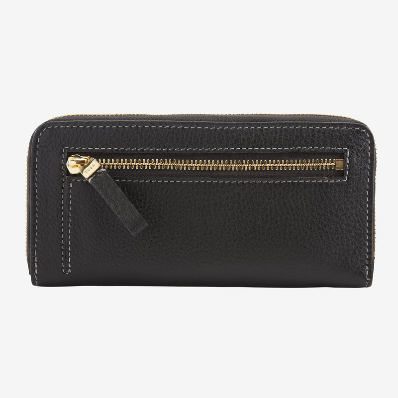 tusk-301-womens-ascot-pebblegrain-leather-single-zip-wallet-black-back