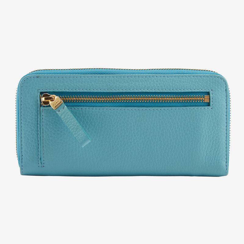 tusk-301-womens-ascot-pebblegrain-leather-single-zip-wallet-blue-back
