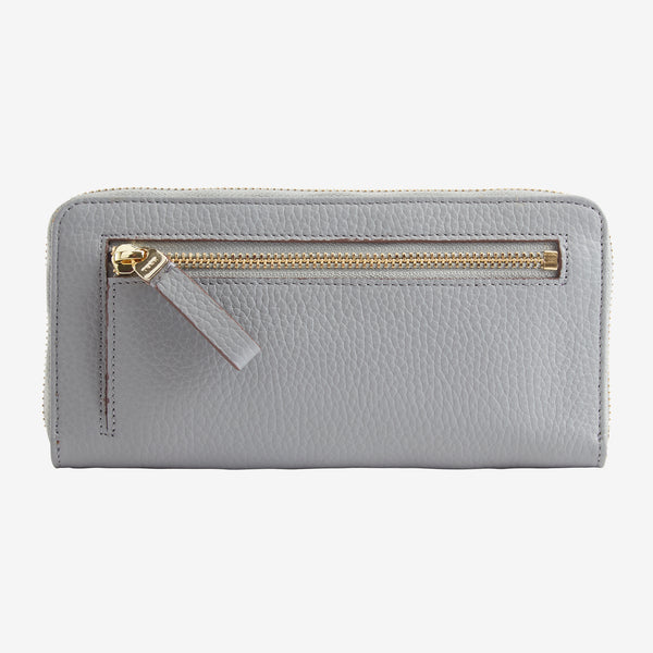 Ascot Single Zip Gusseted Clutch Wallet - Tusk