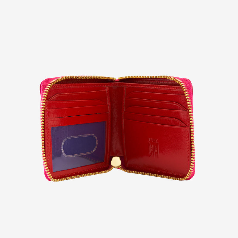 tusk-305-womens-leather-zip-aound-indexer-wallet-geranium-open