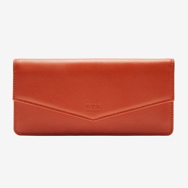 tusk-434-leather-clutch-wallet-orange-front