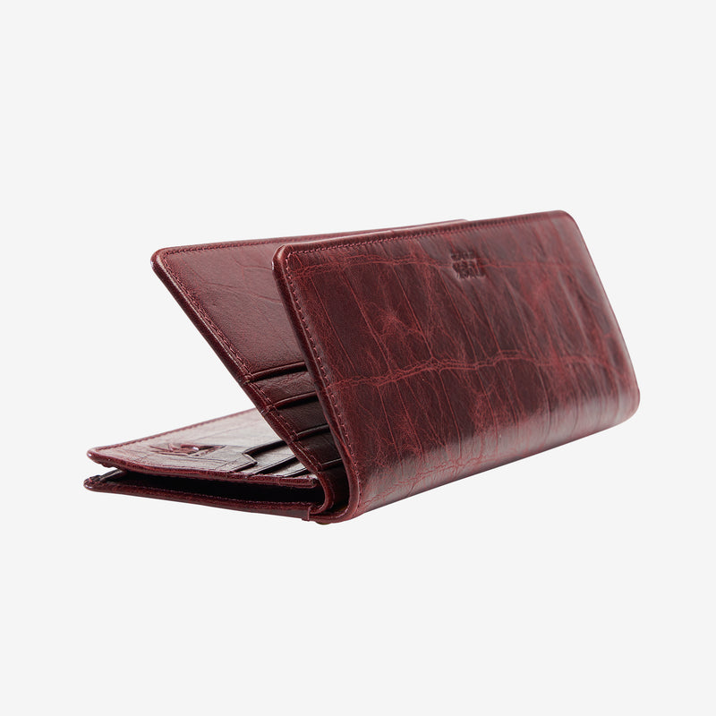tusk-434-lisbon-printed-croco-leather-clutch-wallet-oxblood-open