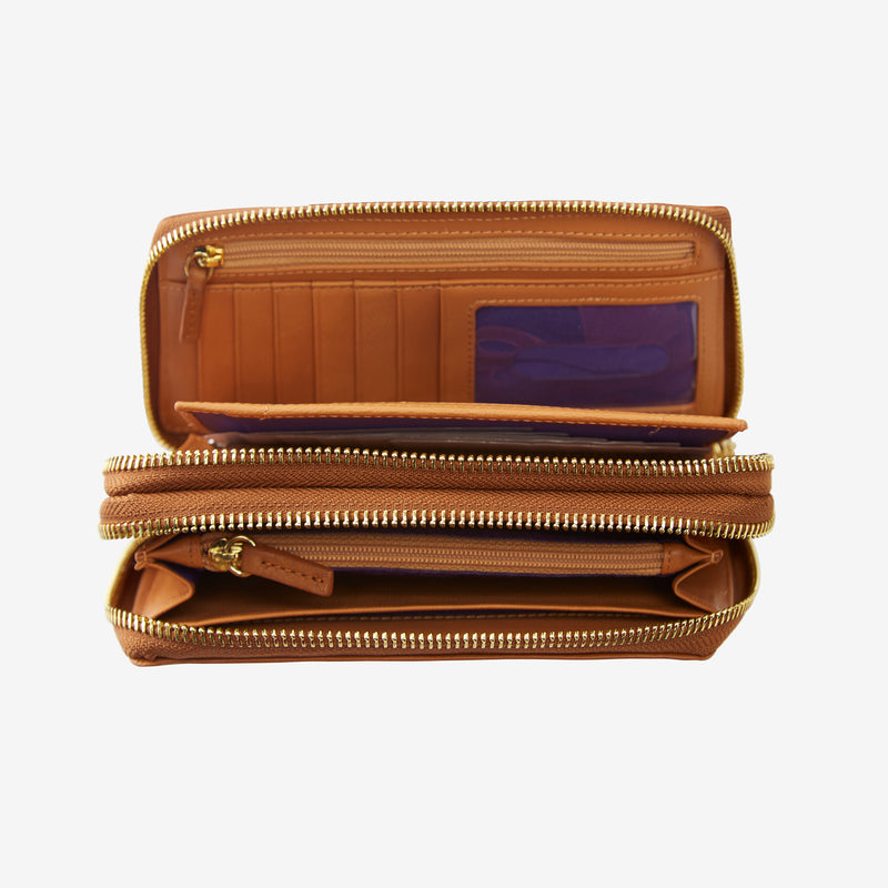 tusk-443-donington-double-zip-wallet-wood-open