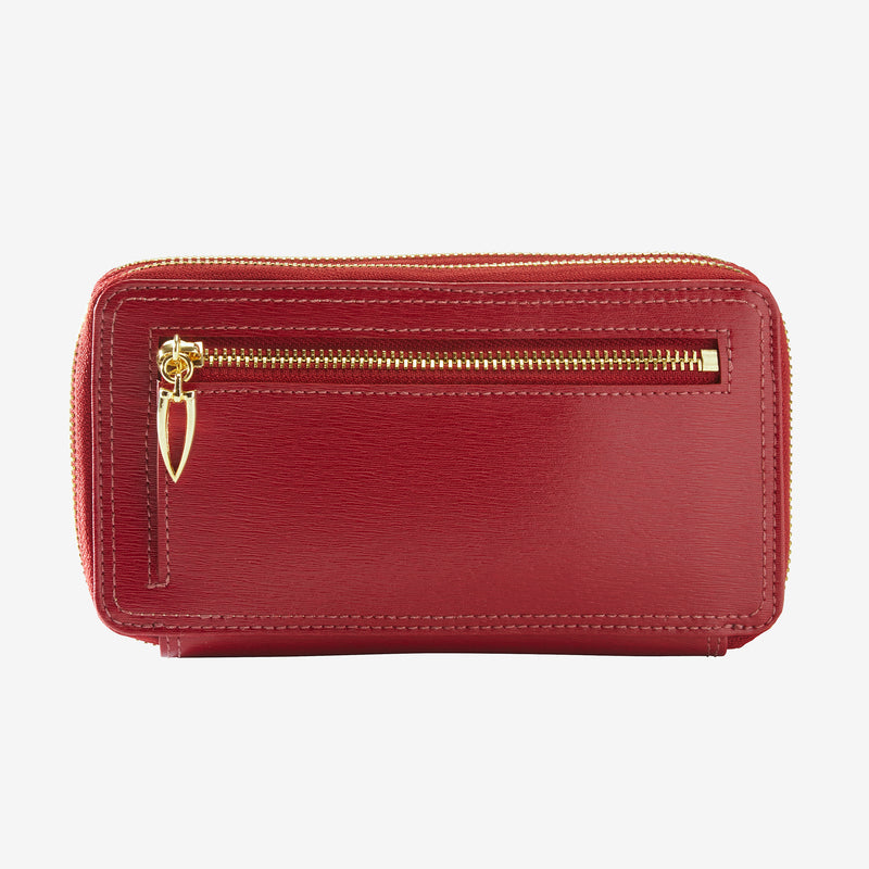 tusk-443-madison-saffiano-double-zip-wallet-red-back