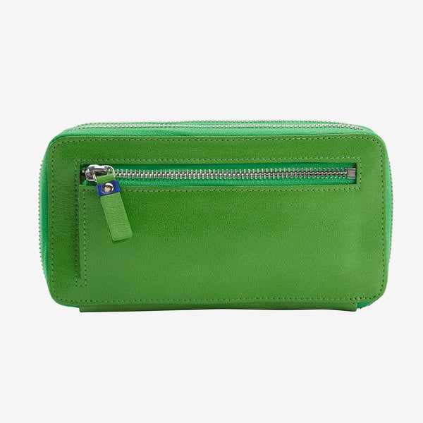 tusk-443-ur-double-zip-wallet-grass-and-indigo-back