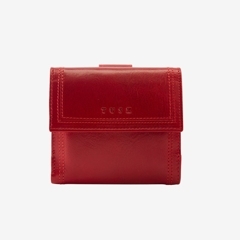 tusk-461-kent-leather-indexer-wallet-red-front
