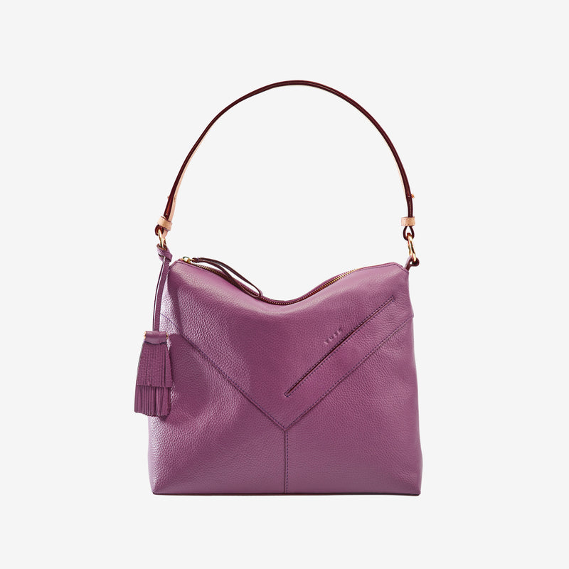 tusk-9640-ascot-pebblegrain-leather-small-hobo-bag-amethyst-front