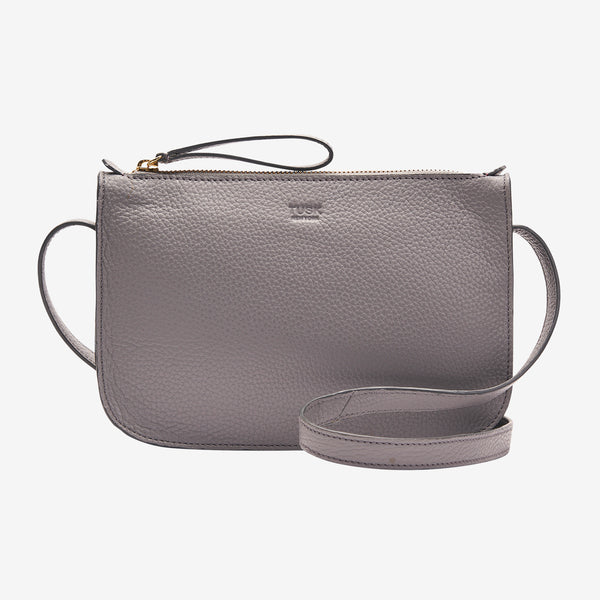 tusk-9902-womens-pebblegrain-leather-small-cross-body-top-zip-bag-smoke-front