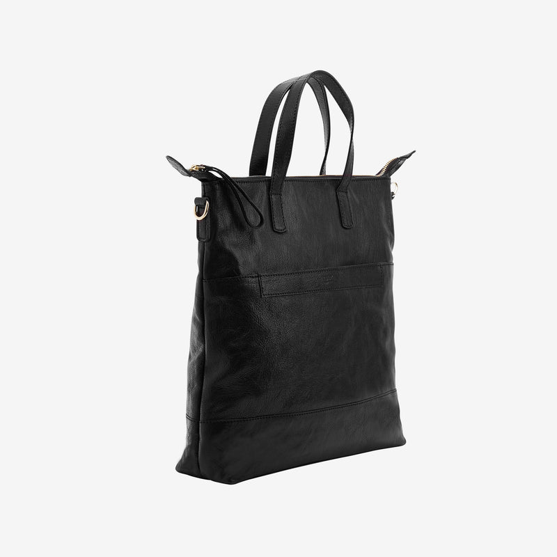 tusk-9905-lorna medium-leather-tote-black-side