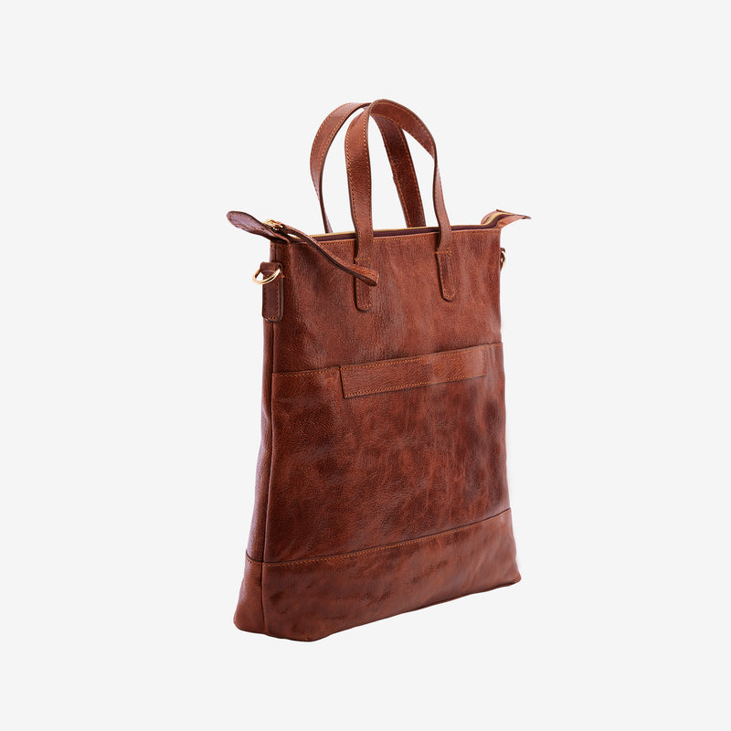 tusk-9905-lorna medium-leather-tote-camel-side