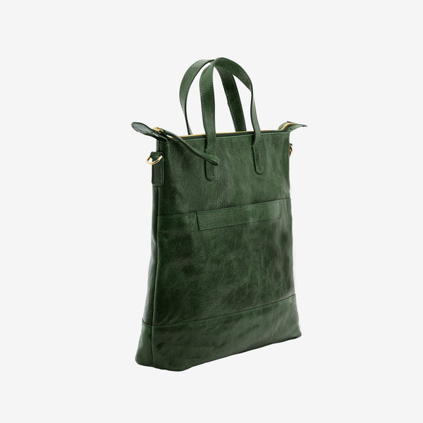 tusk-9905-lorna medium-leather-tote-moss-side