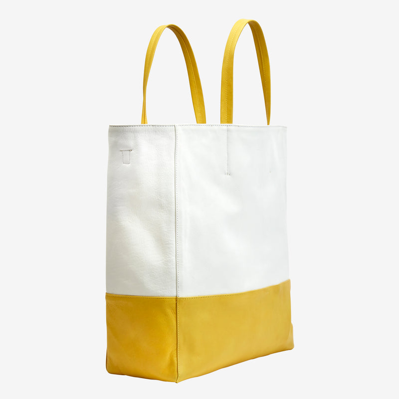 tusk-9908-womens-amelia-leather-large-open-tote-white-and-yellow-side