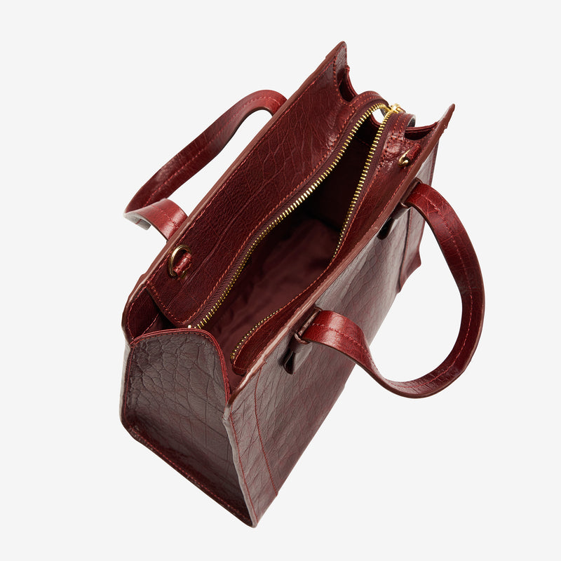 tusk-9909-womens-leather-croco-print-small-satchel-cross-body-oxblood-open