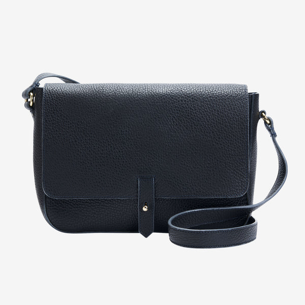 tusk-9912-womens-pebblegrain-leather-flap-over-messenger-cross-body-bag-black-front