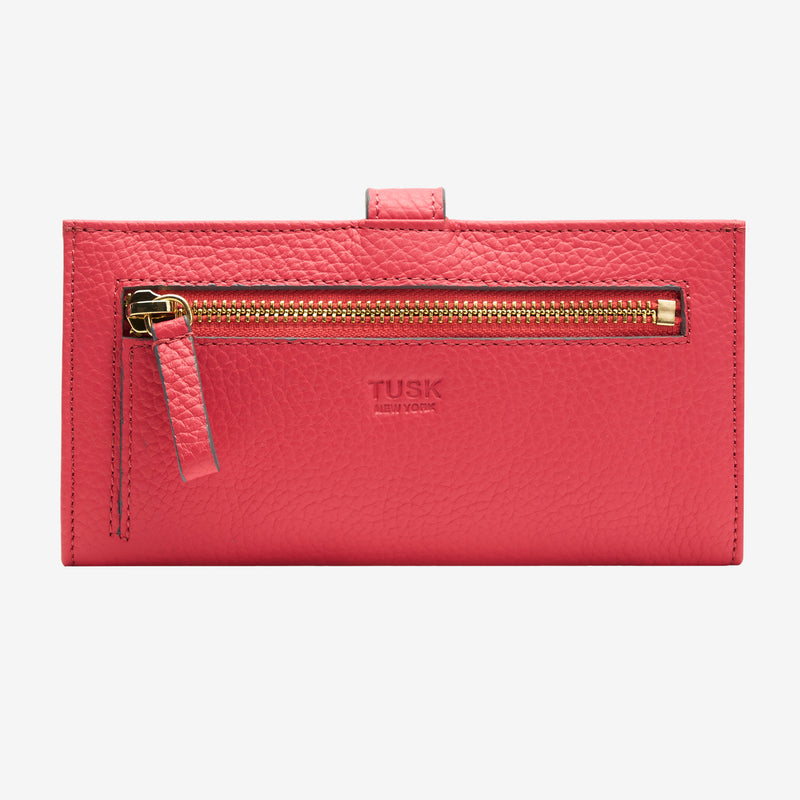 tusk-womens-ascot-pebblegrain-leather-455-slim-clutch-wallet-coral-back