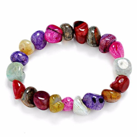 Crackled Agate Multi-Color Chakra Bracelet