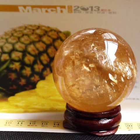Citrine Carved Sphere