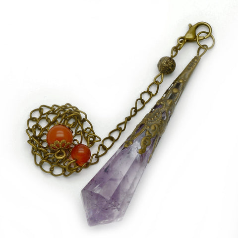 Amethyst Crystal Point Pendant/Pendulum