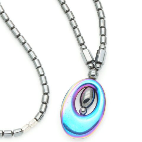 Multi-Color Hematite Magnetic Therapy Necklace