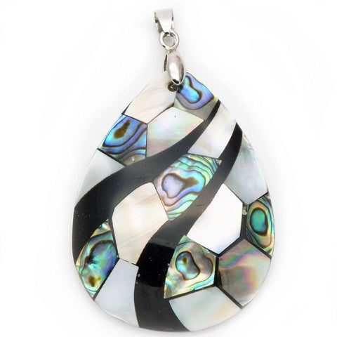 Abalone & Mother Of Pearl Teardrop Pendant