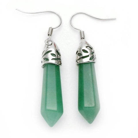 Green Aventurine Point Earrings